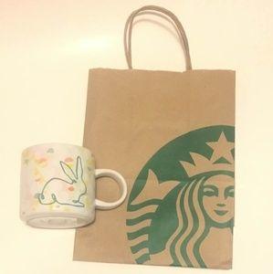 Starbucks Rabbit Spring themed Ceramic Mug 12oz